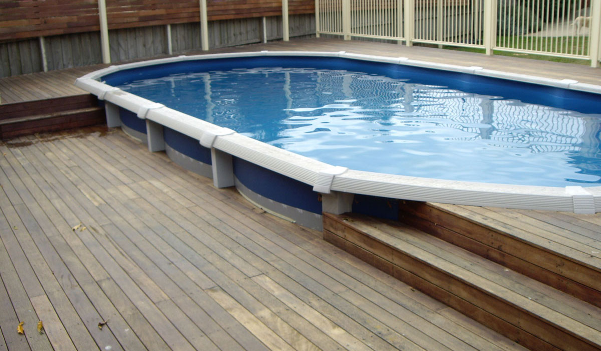 Above ground pools melbourne pools r us Above pool deck plans