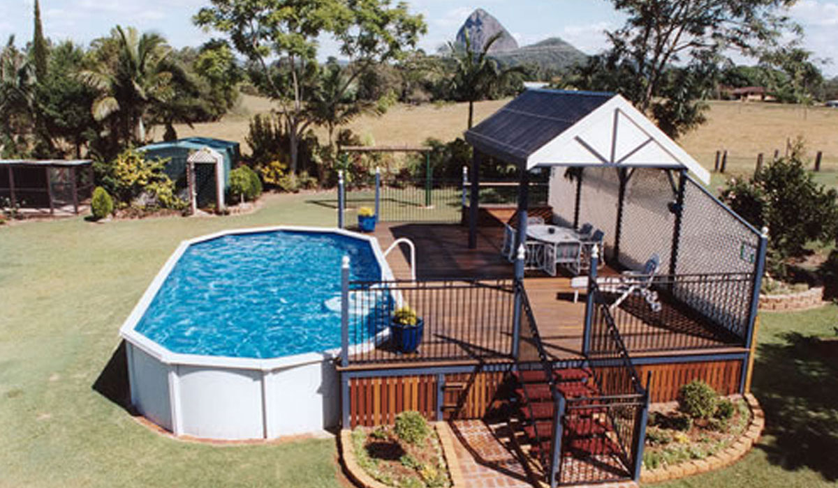 above ground pools decking