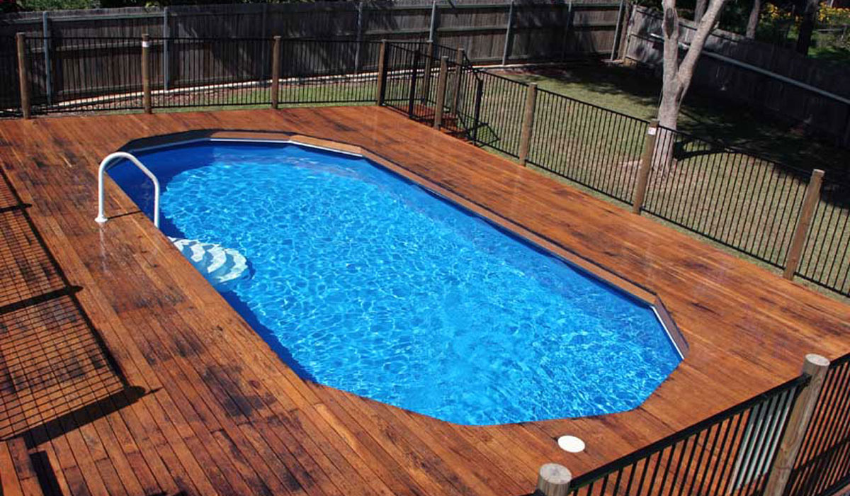 Above ground pools melbourne pools r us for Above ground pool decks for sale